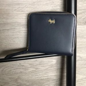 NWT- Radley London Zip Around Leather Wallet, Blue